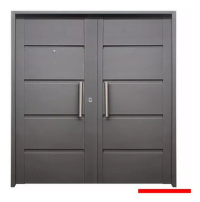 Puerta Frente Inyectada Moderna Doble Hoja Abrir 160 Cm