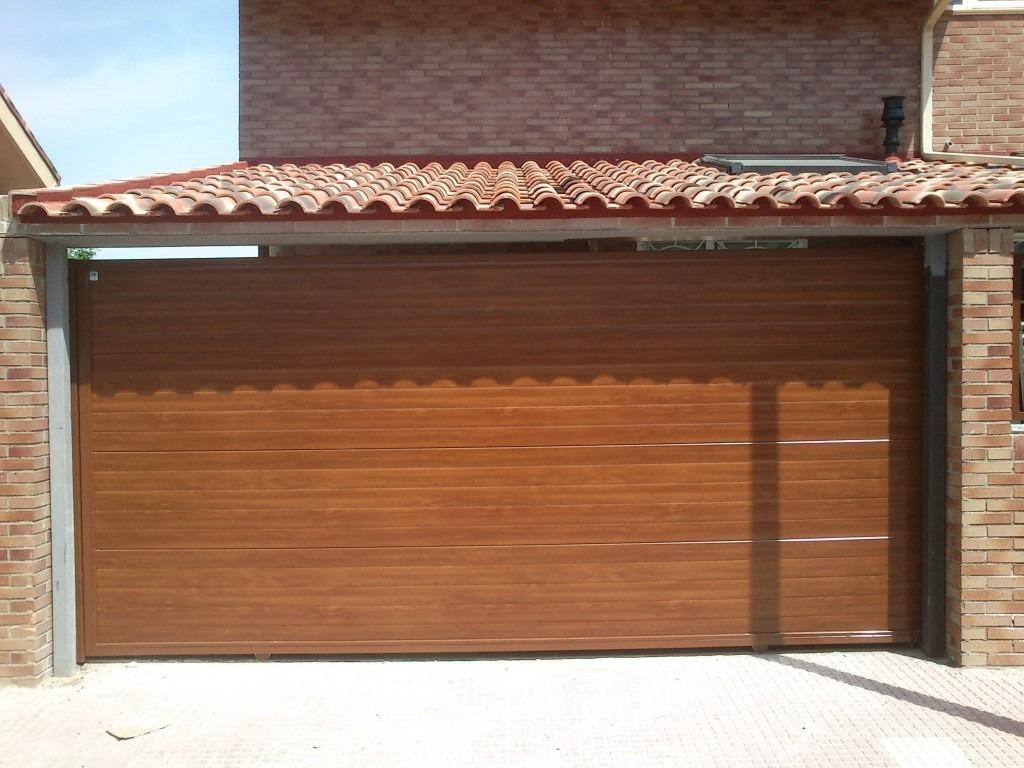 Puerta garaje seccional automatica ascendente 15 300 - Puertas de garaje de madera ...
