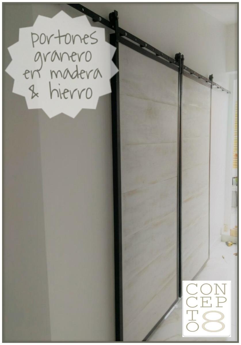 Puerta Granero/ Establo Madera-hierro Oferta!! Antes 9600 - $ 8.160 ...