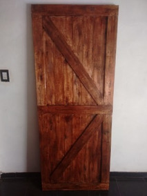 Puerta Granero Rustica Madera Palets Sin Riel Sin Herrajes