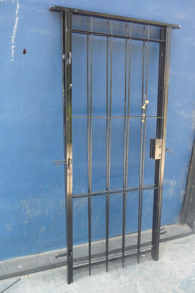 Puerta Reja Hierro Del 12 Con Cerradura Para Puerta De 80 - $ 2.035 ...