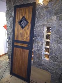 Puerta Hierro Y Madera