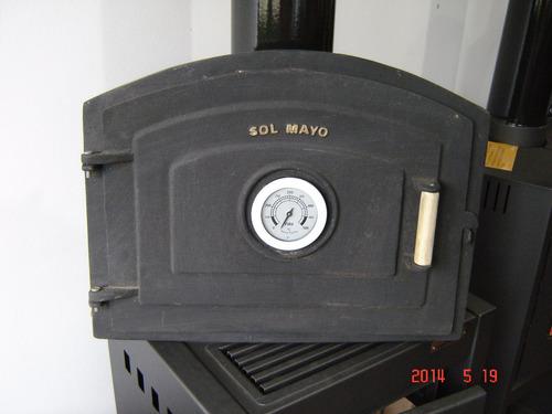 puerta horno barro hierro fundido rect