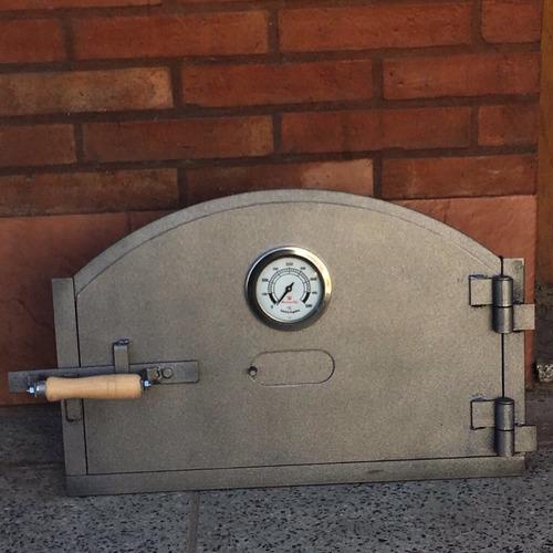 puerta horno de barro c/venteo + chimenea. somos fabricantes