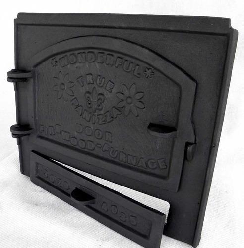 puerta horno de barro de fundición leñera o secundaria hermo