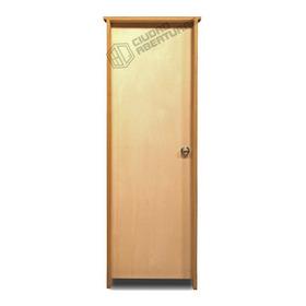 Puerta Interior Marco 14cm En Madera Dura 75x205 Izq