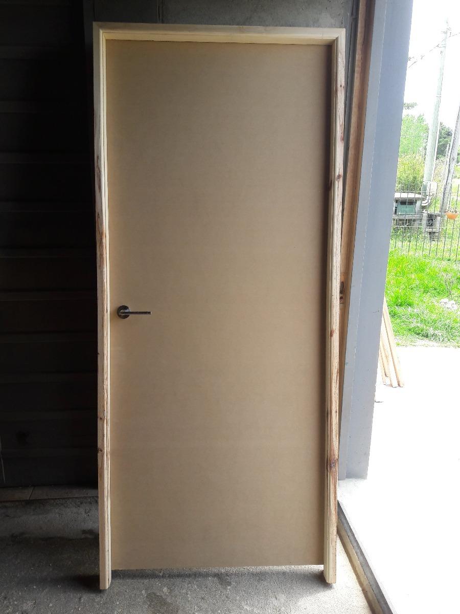 Puerta Interior Mdf 5.5 Hoja 80cm Marco Pino 10cm Oferta ...
