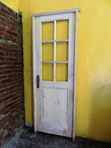 puerta interior o exterior, madera maciza ! super oferta !!