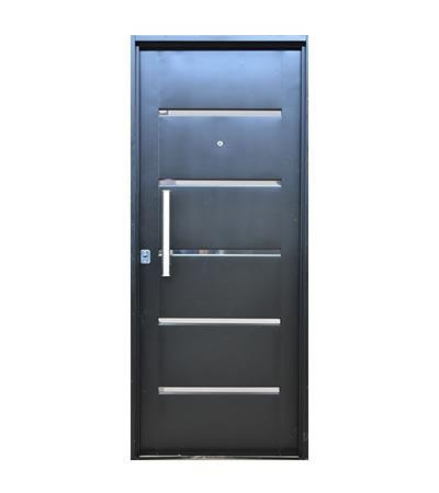 puerta inyectada con dos cerrojos seguridad en cuotas