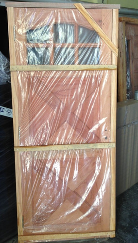 puerta madera cedro frente exterior  80x200 estilo country
