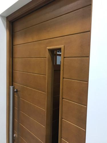 puerta madera maciza oblak 2338 90x200 c/postigo para vidrio
