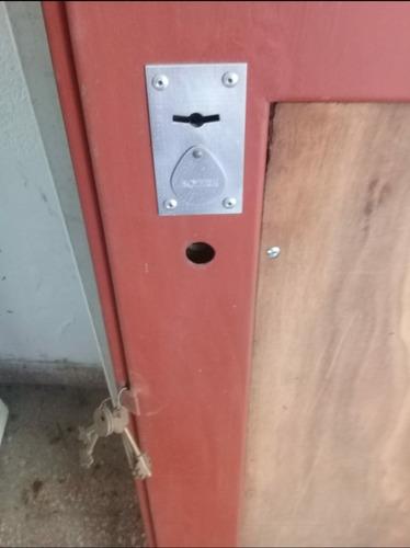 puerta metalica reforzada nueva