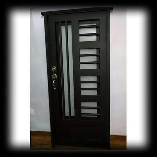 Puerta minimalista g 05 10 en mercado libre for Puertas corredizas de metal