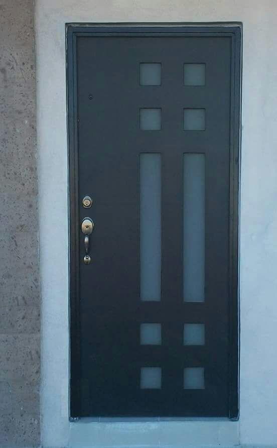 Puerta minimalista mod g 02 10 en mercado libre for Puertas principales de casas