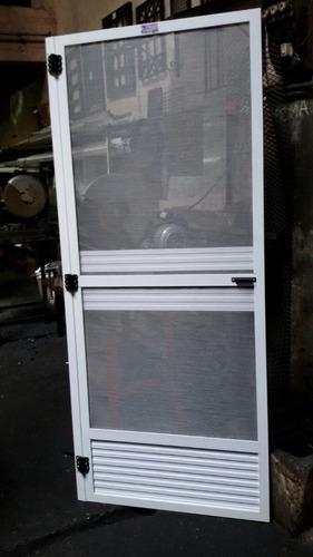 puerta mosquitera de aluminio