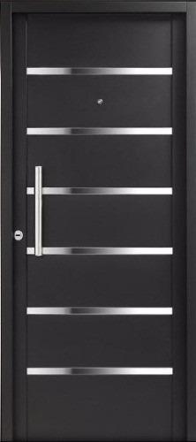 puerta nexo galva 7 tableros inyectada c/ apliques de acero