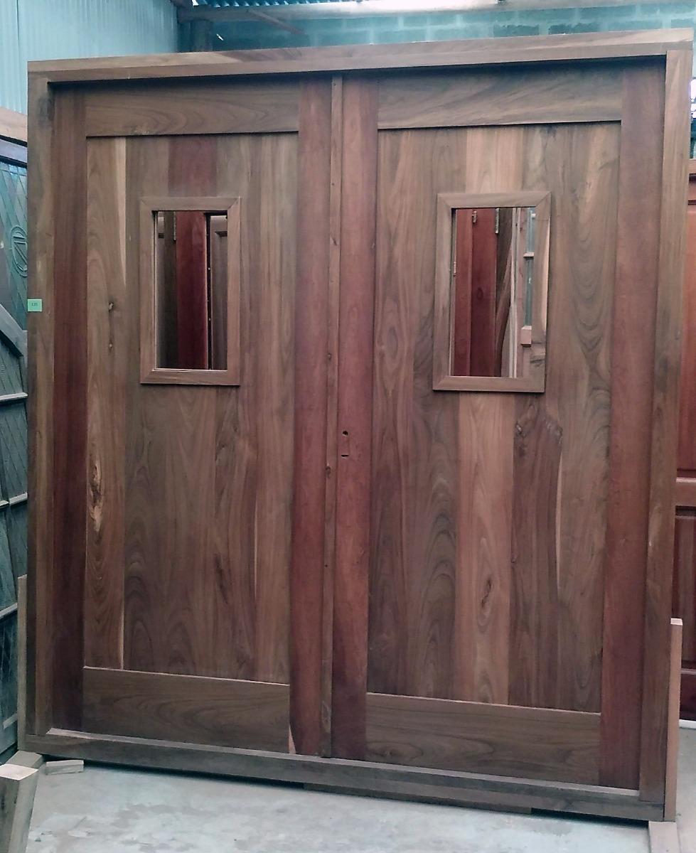 Muebles lapacho exterior obtenga ideas dise o de muebles for Puerta doble hoja exterior