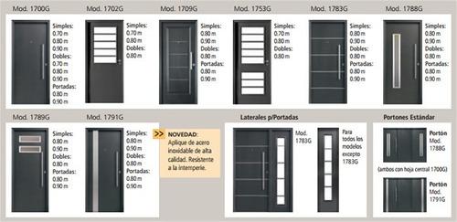 puerta oblak 1783g doble chapa grafito cerradura 90x200 cm