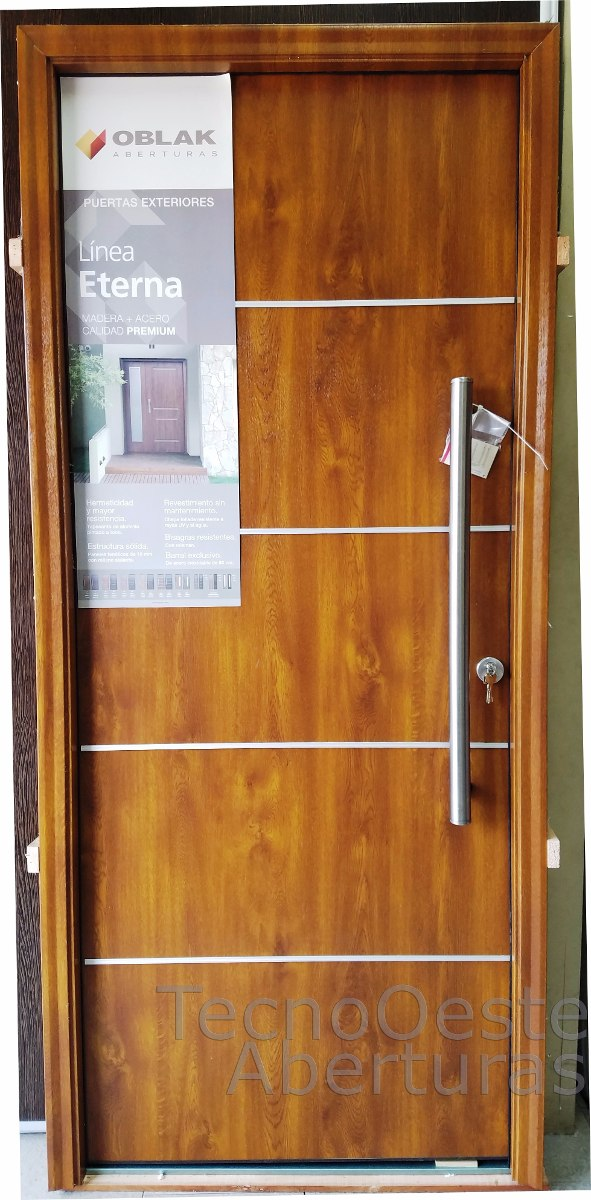 Puerta Oblak Eterna Pvc Marco Madera Roble Dorado 1183 - $ 17.356,50 ...