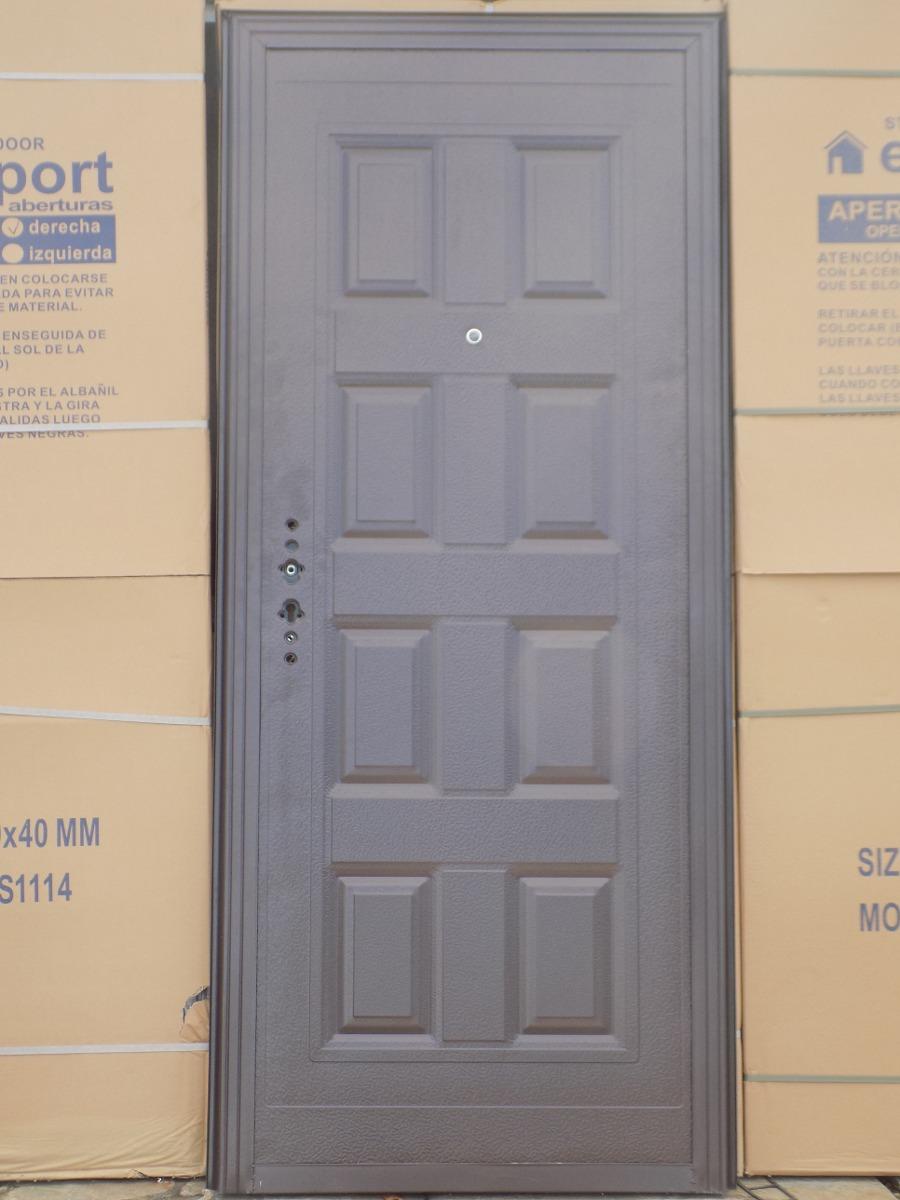 Puerta para frente con reja 16 mm en - Puertas de reja ...