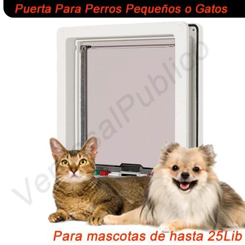 Puerta para gatos o perros peque os hasta 25 libras for Puerta para perros