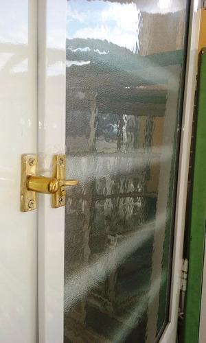 puerta pavir florencia blanca 1/2 vidrio horizontal 80 cm