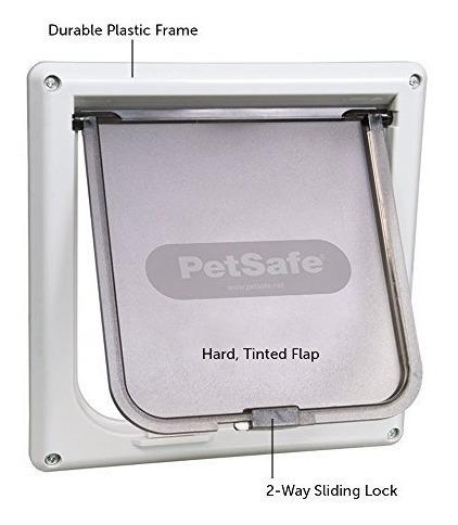 puerta pequeña para gato con cierre en ambos lados petsafe