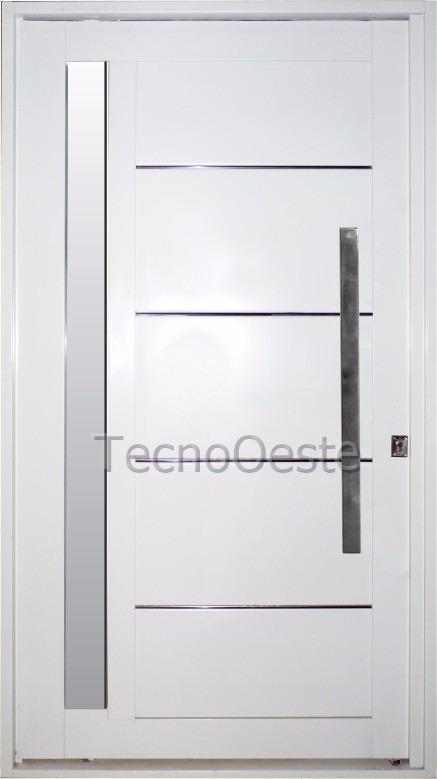 puerta pivotante nexo galva 115x205 cm vidrio lateral barral - Puerta Pivotante