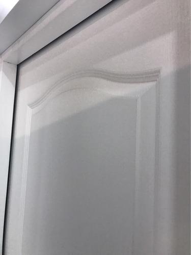 puerta placa camden blanca moldeada 80cm marco chapa oblak