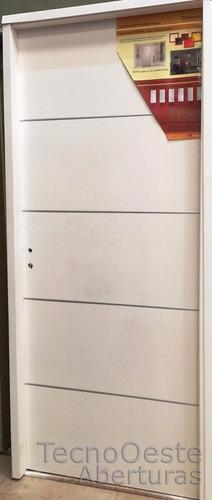 puerta placa carpincruz madison blanca apliques aluminio 70
