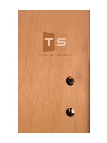 puerta placa cedro 70x200 tabique 10/15 - marco de chapa