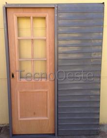 Puerta Madera Vidrio Repartido Interior Aberturas Puertas Es Apta