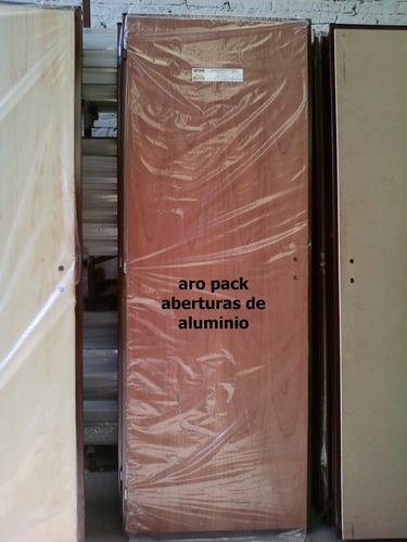 puerta placa de cedro 70x200 marco reforzado