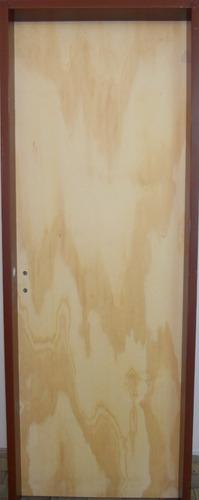 puerta placa de pino 70x200cm  bisagra y cerradura reforzada