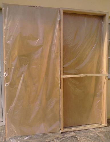 puerta placa enchapada en cedro tabique de 15 marco de mader