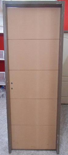 puerta placa gromanti americana 2006 mdf 80/15 marco chapa18
