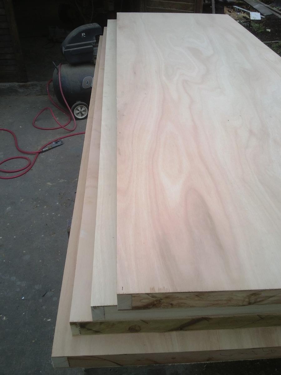 puerta placa madera interior a medida sobre pedido sin marco