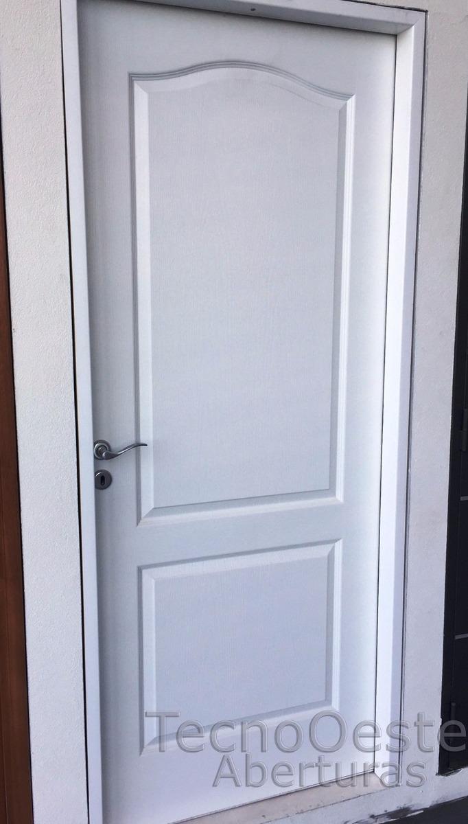 Puerta Placa Oblak Camden Moldeada Marco Aluminio Blanco 90 ...