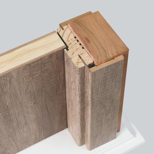 puerta placa oblak tekstura 80-10 der nogal con contramarco