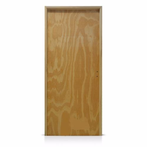 puerta placa pino 0,80x2,00 marco madera 10cm