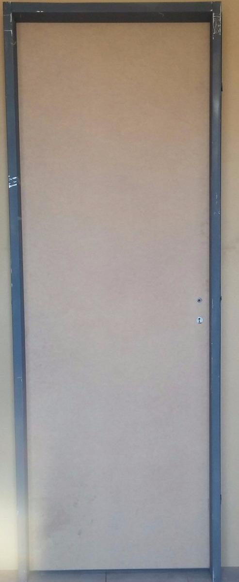 Puerta Placa Pino Marco De Chapa Doble Contacto Bisagra Pom - $ 845 ...