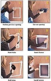 puerta plastico ideal pet chica para perro o gato casa hogar