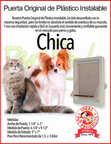 puerta plastico ideal pet chica perro gato casa hogar