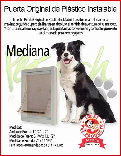 puerta plastico ideal pet mediana perro gato casa hogar