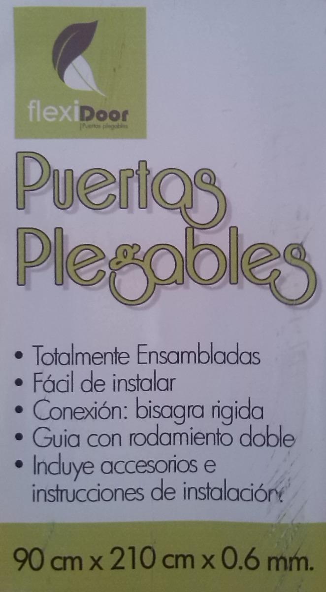 Puerta plegable x flexidoor bs for Puertas 90 x 210