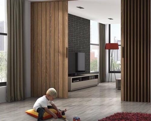 puerta plegable - blanco, madera clara, oscura 150 x 220