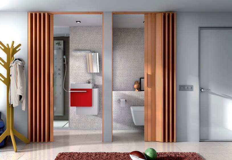 Puerta plegable para ba os ajustable a tus medidas - Medidas puertas interiores ...