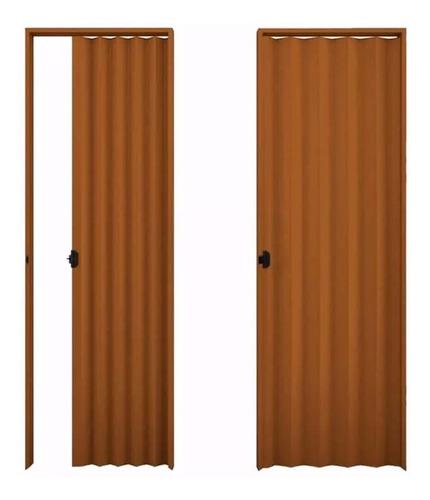 puerta plegable pvc 210 x 60cm marrón milenio