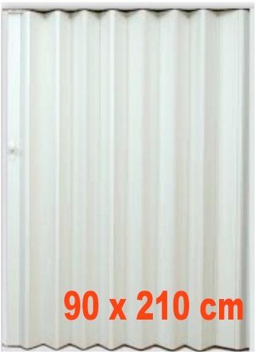 Puerta plegable pvc 90x210cm varios colores disponibles for Puertas 90 x 210