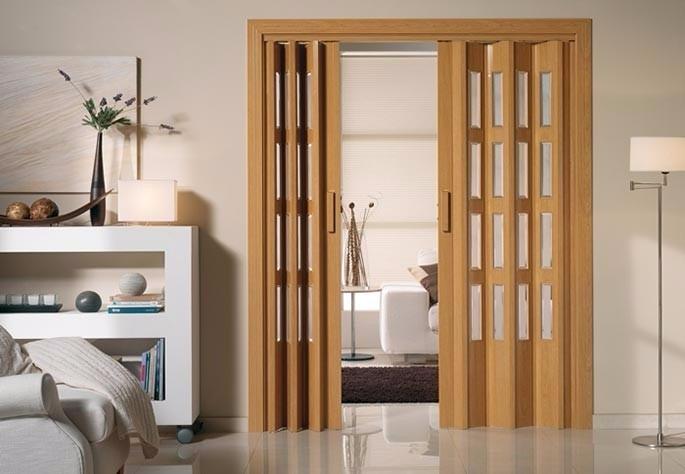Puerta plegable pvc corrediza fabricamos a medida 1 for Precio de puertas plegables
